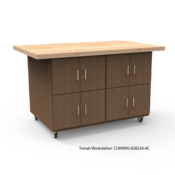 Tomah Workstation with Hardwood Top