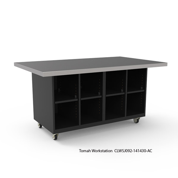 Tomah Workstation with Stainless Steel Top