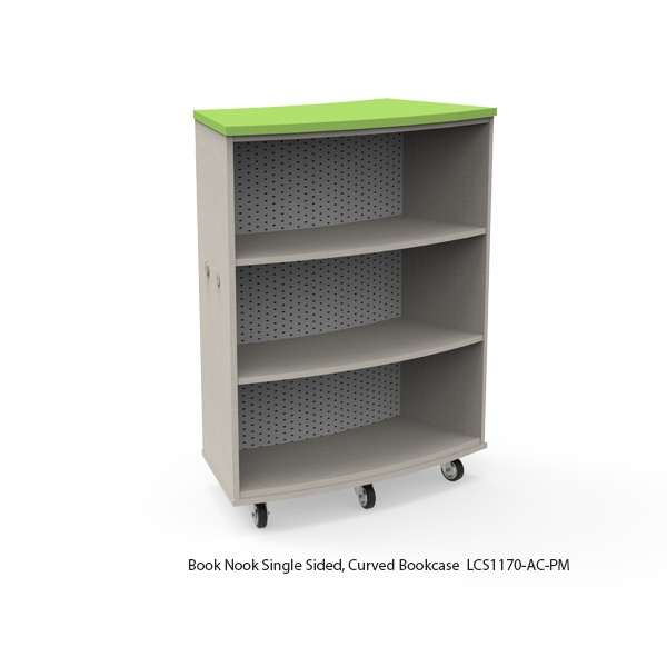 Single Sided Curved Bookcase-Mobile