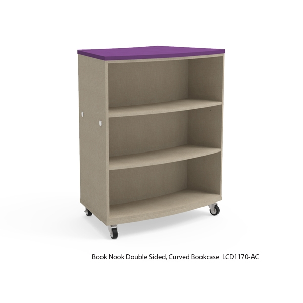 Double Sided Curved Bookcase-Mobile
