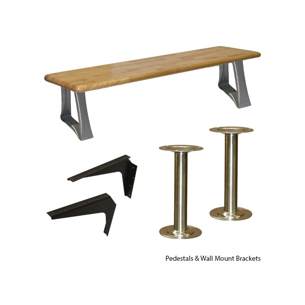 Strange Pedestals Brackets Bench Seating Wb Manufacturing Spiritservingveterans Wood Chair Design Ideas Spiritservingveteransorg