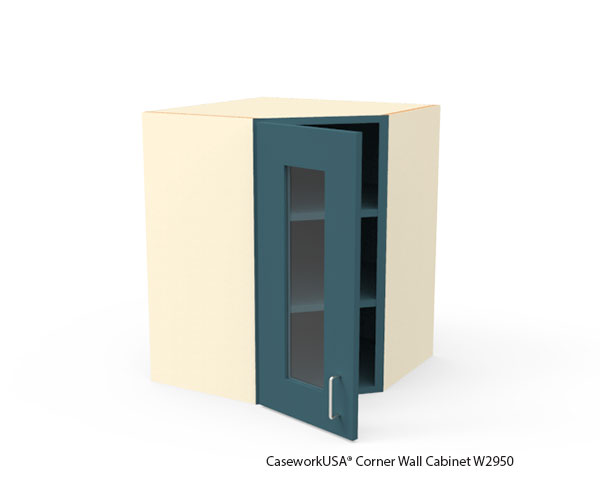 Corner Wall Cabinets with Glass Door