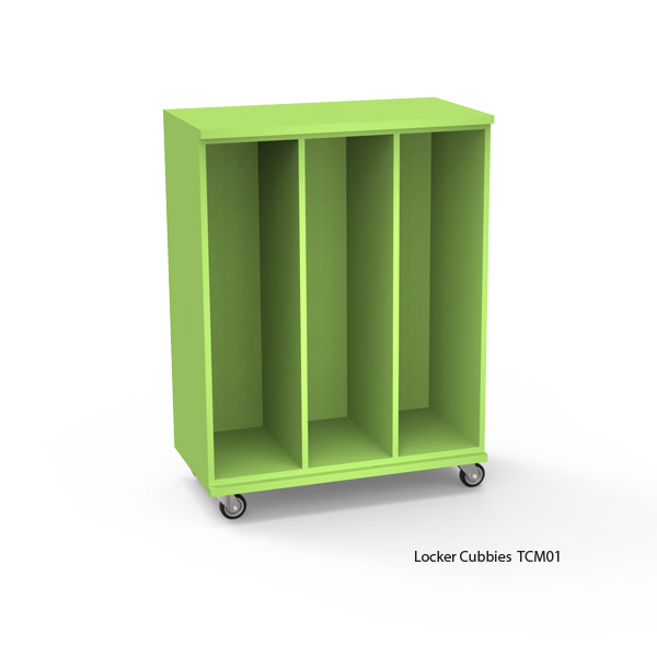Mobile Tall Locker Cubbies