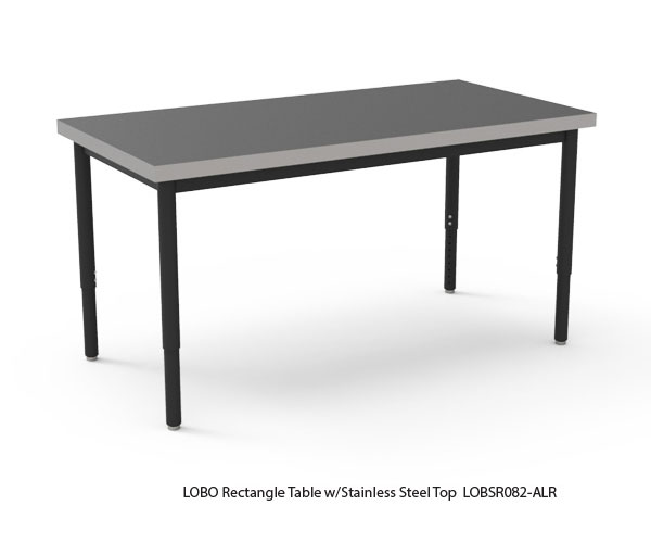 LOBO Table with Stainless Steel Top