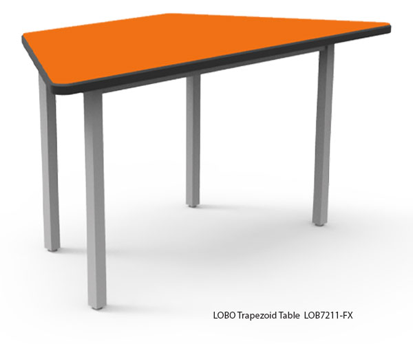 LOBO Trapezoid Table with Laminate Top