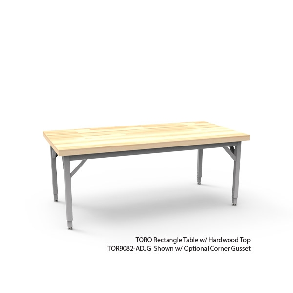 Toro Rectangle Table With Butcher Block Top