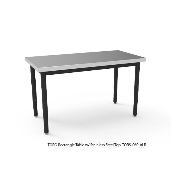 TORO Rectangle Table with Stainless Steel Top