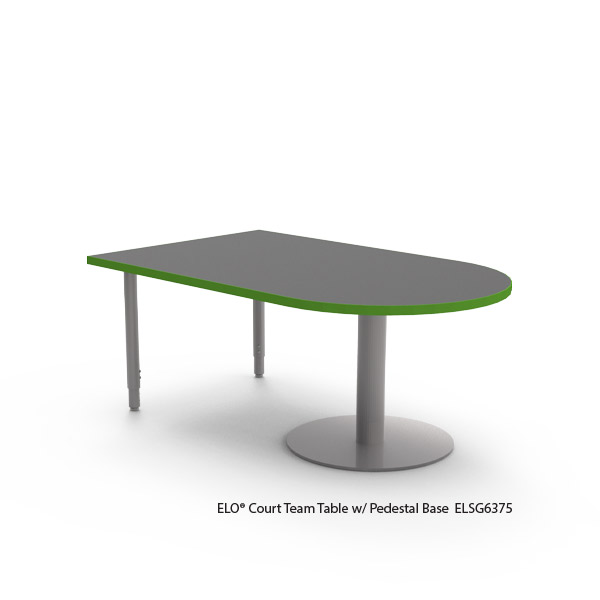 ELO® Court Table with Pedestal Base