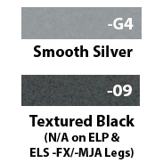 Leg Colors; Smooth Silver and Black